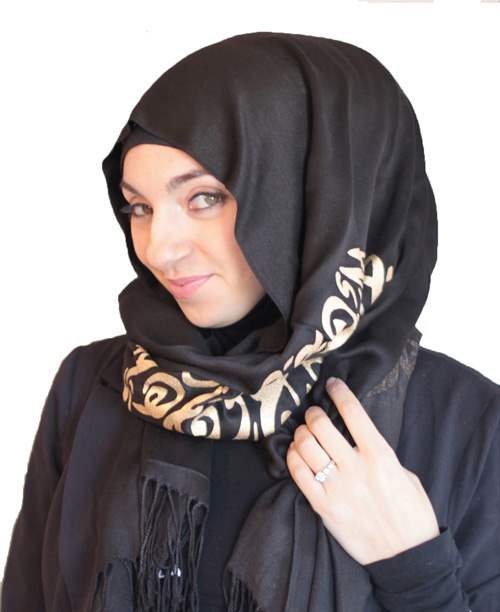 Arabic Calligraphy Scattered Scribbles Arabic Calligraphy Scarves