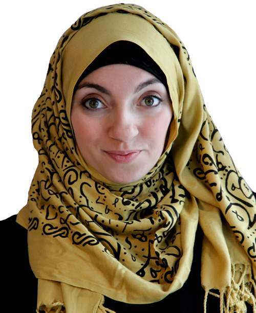 Arabic Calligraphy Hijab Scattered Scribbles