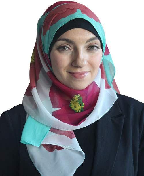Printed Hijab Blossoms