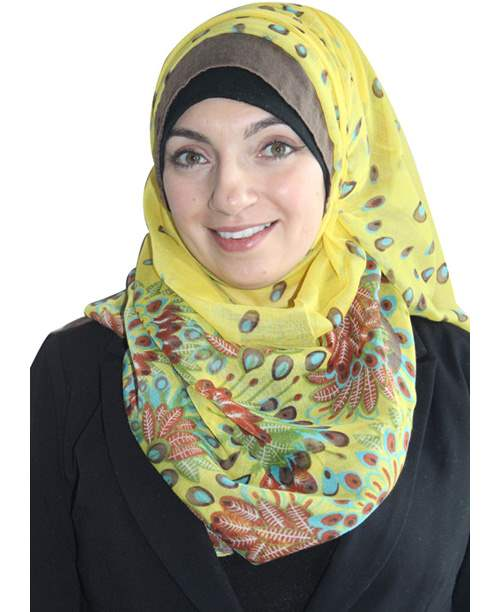 Two Tone Flowers Extra-wide Hijab