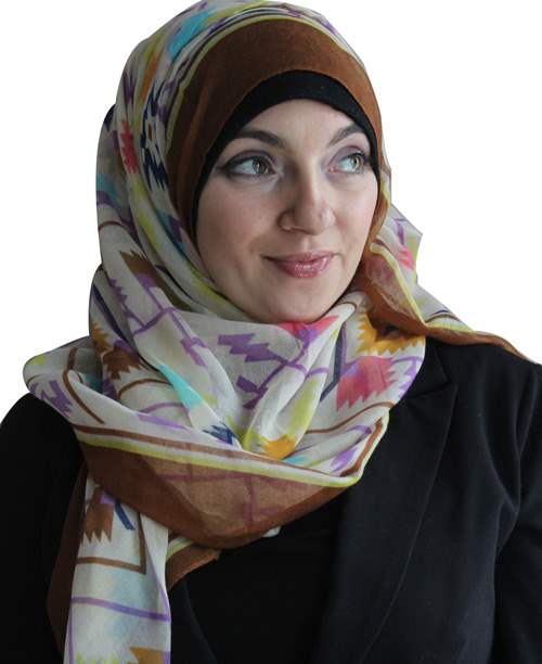Tribal Extra-wide Hijab