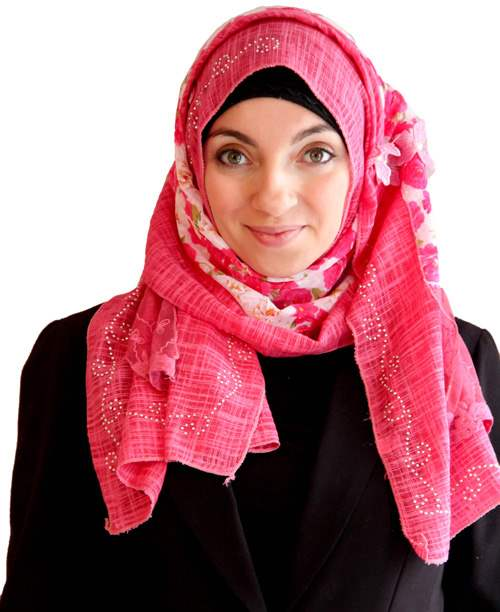 Striped Patchwork Patchwork Hijab