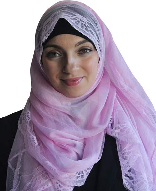 Solid Hijab With Lace Trim