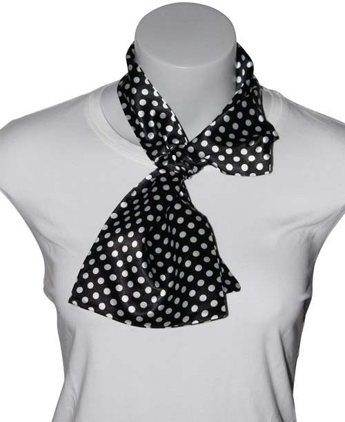 Silk-feel Magic Neck Scarf Polka Dot Print